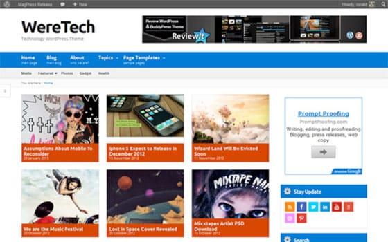 weretech Free WordPress Theme