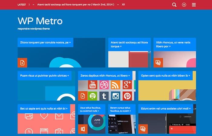 WP Metro: Best Free WordPress Themes