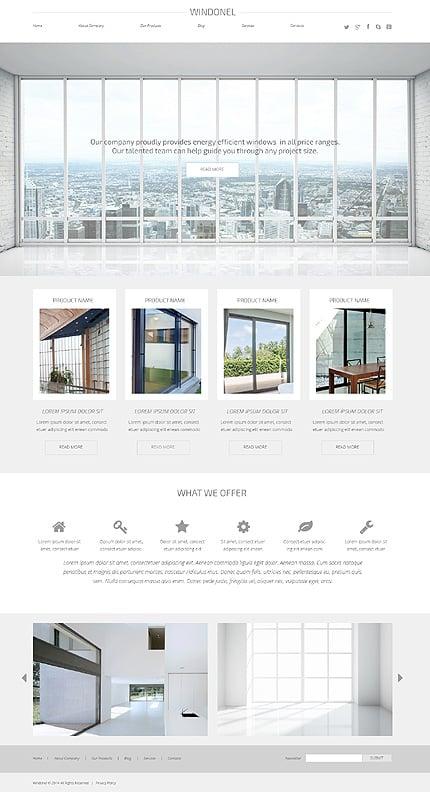 Window Responsive Interior Design WordPress Theme