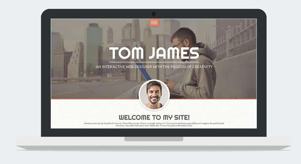 Personal Website WordPress Theme