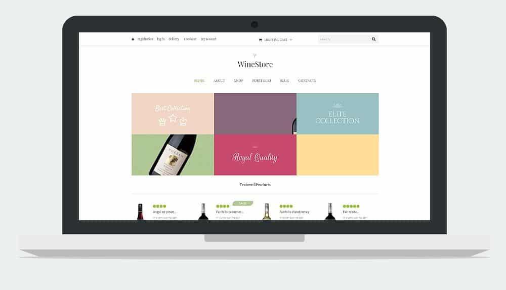 Wine Store WordPress Theme