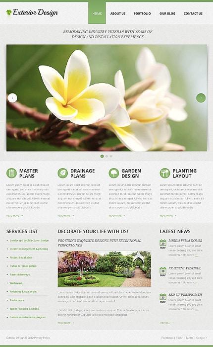 Exterior Design Responsive Minimalist WordPress Themes