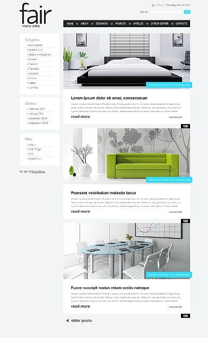 Interior Design Minimalist WordPress Themes