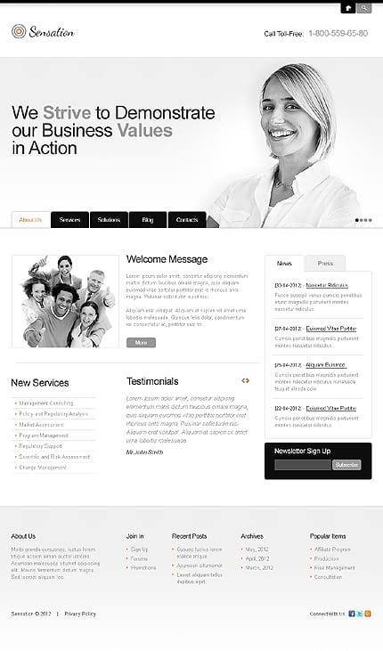 Business Minimalist WordPress Themes
