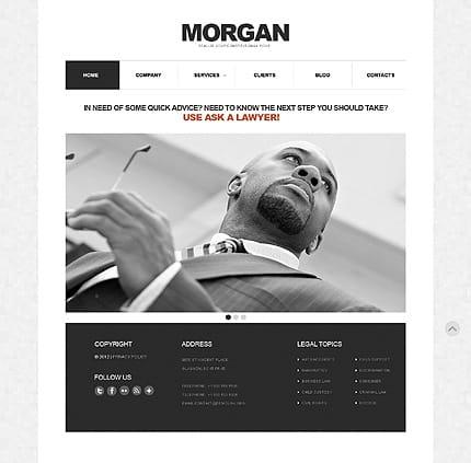 Lawyer Responsive Minimalist WordPress Themes