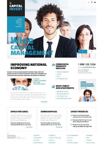 Light Investment Company WordPress Theme