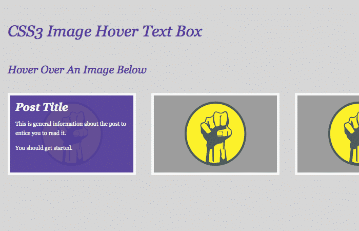 Pure CSS Text Box Hover Effect