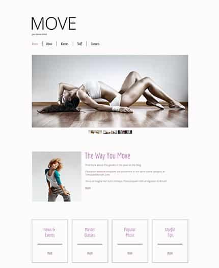 free html5 templates Move