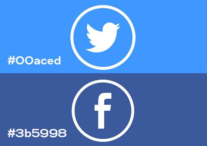 Social Media Hex Values + RGB Values